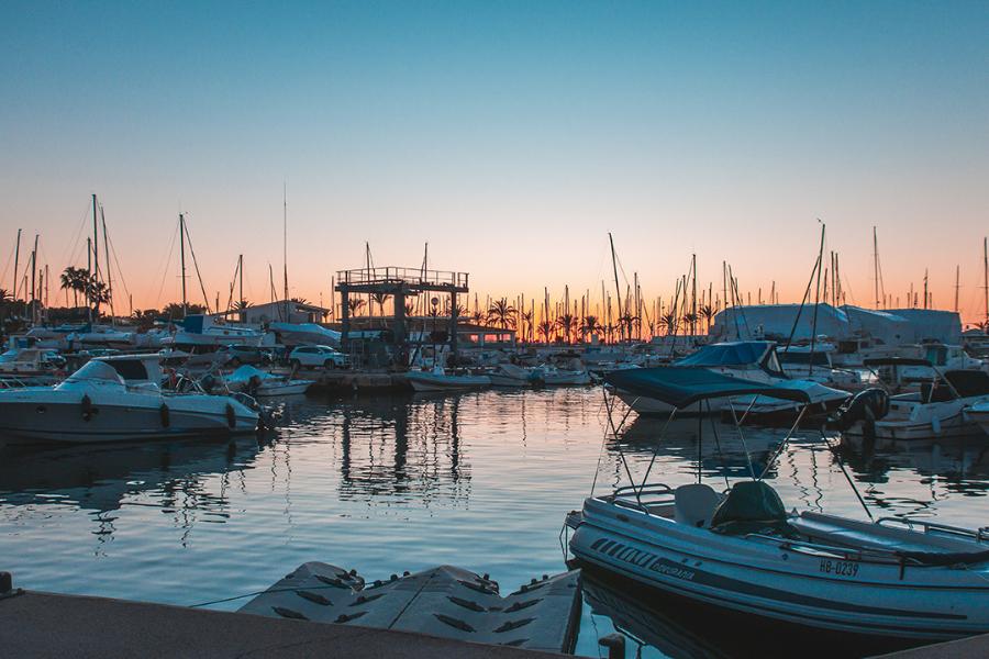 Portada del atardecer en Mallorca