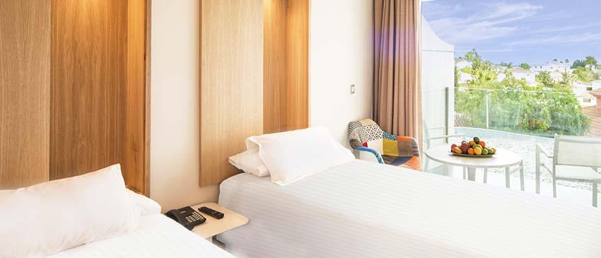 Dormitorio en el hotel higueron
